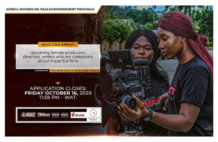 Africa Women In Film And TV Empowerment Program, 'AWIFTEP', Partners AFFIF 2020
