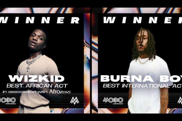 Wizkid, Burna Boy Win Big At Mobo Awards 2020 (Full List Of Winners)