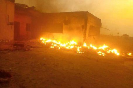 Again! Fire Guts Enugu INEC Office